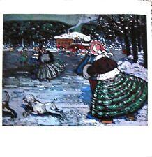 "Winter Ice Skating ~ Wassily Kandinsky 19"" x19"" Print"