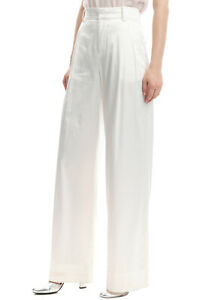 RRP €185 WEILI ZHENG Tailored Trousers Size S Stretch Pleated Front Zip Fly