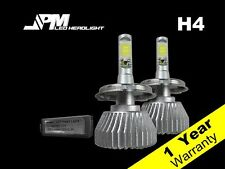 32W 2200LM  H4 LED 6000K Headlight Kit White Power High Low Fog Light Beam Bulbs