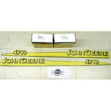 John Deere 4710 hood trim strip set decals LVU12293 LVU12294