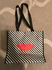 Sephora Limited Edition LIPS Striped Shopper Shopping Tote Shoulder Bag Reusable