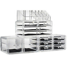 12 Containers Drawers Makeup Organizer Jewelry Storage Acrylic Case Box