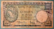 INDONESIA 100 RUPIAH NOTE FROM 1957 ,  P 51 , SQUIRREL