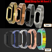 Bands Stainless Steel Metal Wrist Strap Smart Bracelet For Xiaomi Mi Band 3