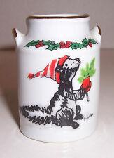 Vintage Suzy's Zoo Christmas Skunk toothpick holder 1976 Lic Enesco Imports
