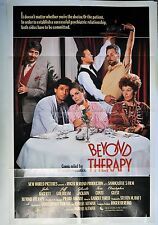 "Jeff Goldblum Julie Hagerty Poster Beyond Therapy Movie Folded 40""x27"" 1987"