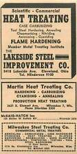 1946 Martin Heat Treating S Clement Ave Sheridan Lakeside Steel Improvement Ad