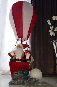 XXL Weihnachtsmann im Ballon 110 cm schwebender Nikolaus Xmas Santa Claus Deko