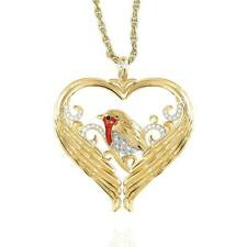 14k Gold Filled Bird Angel Wing Heart Pendant Necklace Women's Jewelry Xmas Gift