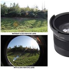 HD Auxiliary Fish Eye Lens Kit for DSLR Camera Canon Nikon Hi Def Optics Fisheye