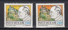 VATICANO 1984 VIAGGI DEL PAPA L 2500 VARIANTE CIELO GIALLO INVECE  DI ARANCIONE