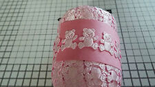 2m Pink -teddy Bear -trimming Appliques Satin Lace Ribbon