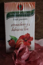 Fruit herbal  tea Strawberry and Hibiscus fruit passion tea 20 sachets in a box