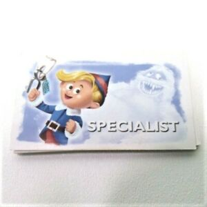 Rudolph Red Nose Reindeer Operation Game Parts Pieces- 12 Specialist Cards