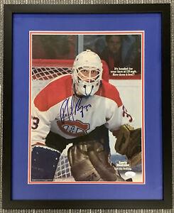 Patrick Roy Signed Poster SportsIllustrated Framed Canadiens Hockey Auto HOF JSA