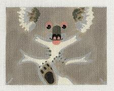 *NEW*  LIZ  Koala Bear Roll up 3-D Ornament handpainted Needlepoint Canvas