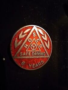 collectable bus coach Badge - ROSCO Safe Driving 6 Years. Fattorini