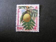 FRENCH POLYNESIA, SCOTT # 192, 4 fr. VALUE 1959 BREADFRUIT FLOWER ISSUE USED