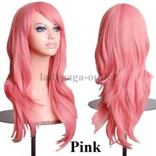 2017 Hot Long Coslay Wig Curly Straight Women Synthetic Hair Full Wig Costume lo