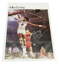 "1977 Sports Illustrated Poster Julius Erving Measures 24"" X 36"""
