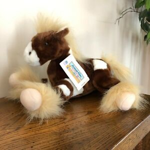 New Animal Alley Toys R Us Stuffed Plush Horse Clydesdale Pony Brown White NWT
