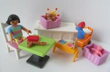 Playmobil Dollshouse bedroom furniture & figure: Table, toybox, books & toys NEW