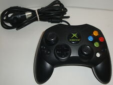 XBOX Original Microsoft OEM CONTROLLER Black Wired X08-69873 Analog S-Type Cable