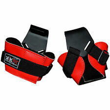 KIKFIT Weight Lifting Steel Hooks Gym Training Bar Straps Gloves Wrist Support