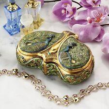 Design Toscano WU10306 Art Nouveau Twin Peacock Jewel Box