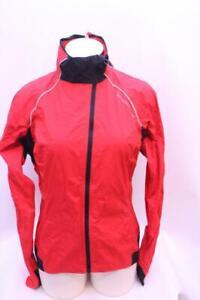 New Endura Women's Equipe Helium Jacket Medium Red Cycling Bike Stuff Sack Rain