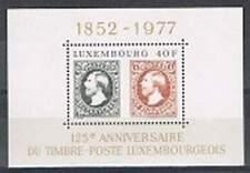 Luxemburg postfris 1977 MNH block 10 - 125 jaar Postzegels (S0101)