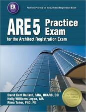 ARE 5 Practice Exam for the Architect Exam by David Kent Ballast Textbook Book