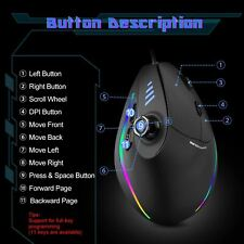 Vertical Gaming Mouse Wired RGB Ergonomic USB Wired Mouse