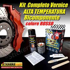 Kit Vernice Pinze Freno Alte Temperature BICOMPONENTE Colore ROSSO Tuning Auto