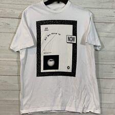 "Ezekiel Black & White ""All We Have Is Now""  Basic SS T-Shirt Mens Sz L Slim Fit"