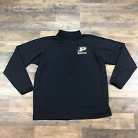 Purdue Boilermakers 1/4 Zip Pullover Long Sleeve Shirt Mens Size XL Soccer Adult