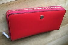 Cellini Dover RFID Continental Wallet in Red (Brand New With Tags)