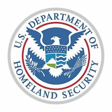 1x STICKER USA SEAL DEPARTMENT OF HOMELAND SECURITY for Bumper Laptop Locker Car