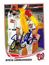 Steve Lombardozzi signed auto autograph 2013 Topps #568 card Nationals