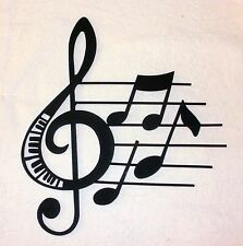 NEW~Black WROUGHT IRON Music Staff Wall Decor Hanging Notes Treble Clef