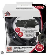Negro Pro Edge pto 2.1.32 Juego De Ps3 De Doble Canal Premium Headset micrófono con cable de micrófono