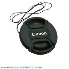 40.5 49 52 55 58 67 72 77 82mm Snap on Lens Cap Cover Protector for Canon Camera
