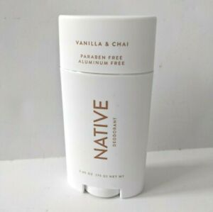 Native Deodorant Vanilla & Chai 2.65 Oz Paraben & Aluminum Free Seasonal Limited