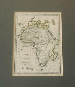 1833 Hand Coloured Map of Africa by George Washington Boynton - Framed