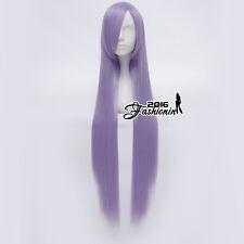 Long Light Purple Straight Women Fashion Party 100cm Cosplay Wig + Free Cap