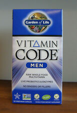 Vitamin Code Men 120 Capsules Garden of Life Raw Wholefood Multivitamin Vegan