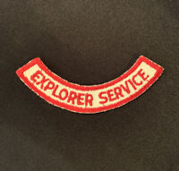 "Vintage 1950s 1960s BSA Boy Scouts Of America ""Explorer Service"" Patch EUC"