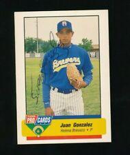 1994 Fleer ProCards Minor League Juan Gonzalez #3609 signed autograph impossible