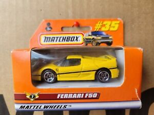 MATCHBOX - FERRARI F50 [YELLOW] CAR NEAR MINT VHTF CARD GOOD COMBINED POSTAGE