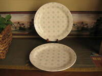 Royal China Co.  Majestic Vintage Dinner Plates Blue Flower Buds Set of Two 2
